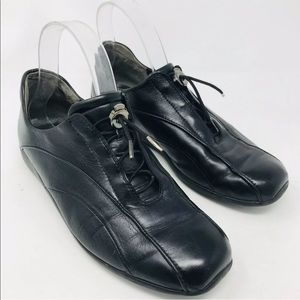 Paul Green Munchen Driving Sneakers Black Leather